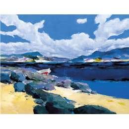 """Donald Hamilton Fraser silkscreen """"Beachscape Skerray"""""""