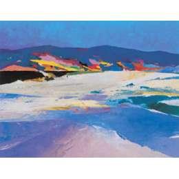 "Donald Hamilton Fraser silkscreen ""Beachscape Sutherland"""