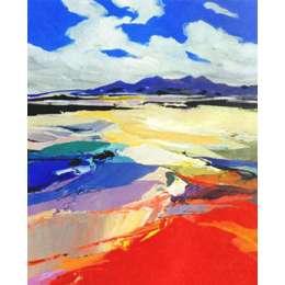 "Donald Hamilton Fraser silkscreen ""Beachscape Wester Ross"""