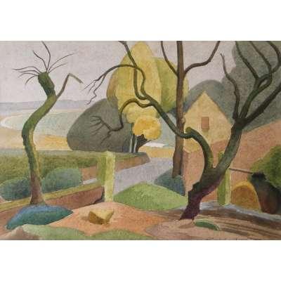 Malcolm Arbuthnot RI watercolour 'La Haule, St Aubin, Jersey'