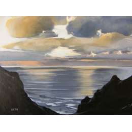 Louise Ramsay 'Gathering Storm - Grosnez'