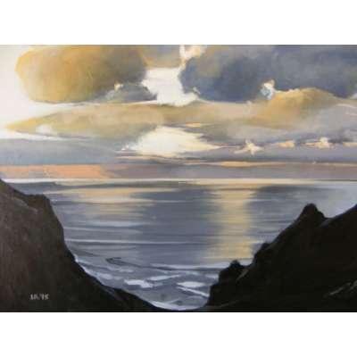 Louise Ramsay 'Gathering Storm - Grosnez'