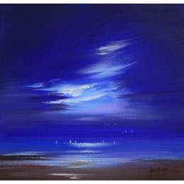 Allan Morgan acrylic on card 'Moon Glow'