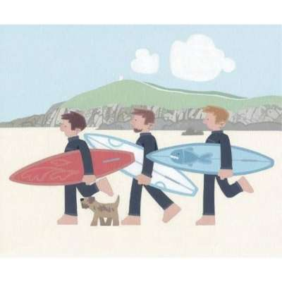 Sasha Harding limited edition giclee 'The Boys-Fistral Beach'