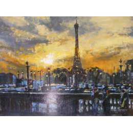 Pul Farraby - Eiffel Tower at Night