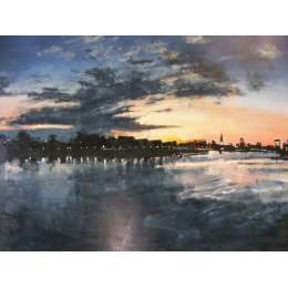 Paul Farraby-River Thames at Night