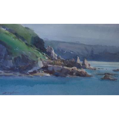 David Taylor - Sunlit Ridges, Saints Bay, Guernsey