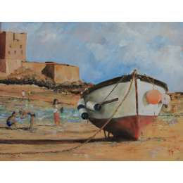 Vic Perron- Low Water, St Aubin's Bay