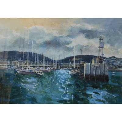 David Henley - Boats in St Aubin's Harbour