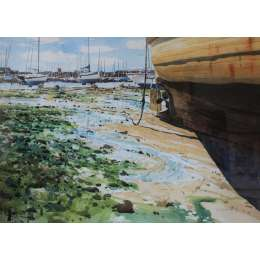 David Henley -Tide Out, St Aubin's Harbour
