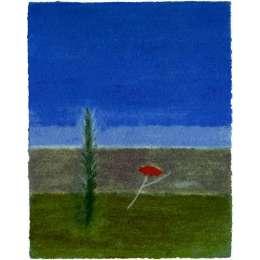 Craigie Aitchison 'Tree and Poppy Montecastelli' 2004