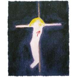 Craigie Aitchison 'small crucifixion' 2007