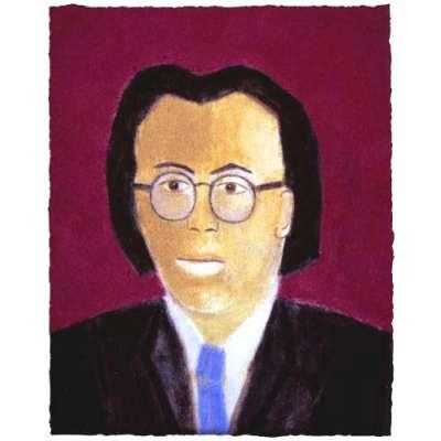 Craigie Aitchison 'Portrait of Nelson Woo' 2003