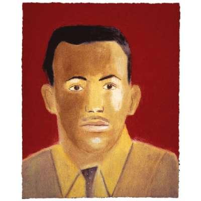 Craigie Aitchison 'Portrait of Michael Mohammed' 2003