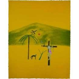 Craigie Aitchison 'Indian Crucifixion' 2003