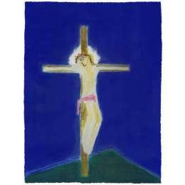 Craigie Aitchison 'Crucifixion Green Hill' 2004