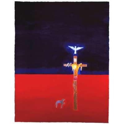 Craigie Aitchison 'Crucifixion' 2001