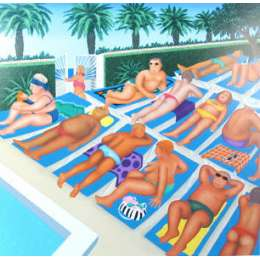 "Beryl Cook limited edition silkscreen ""Tenerife Days"""