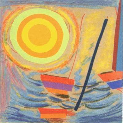 Sir Terry Frost screen print 'Sun and Boats'