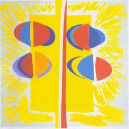 Sir Terry Frost silk screen 'Carlyon Sunshine'