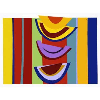 Sir Terry Frost silk screen print 'Swing Rhythm'