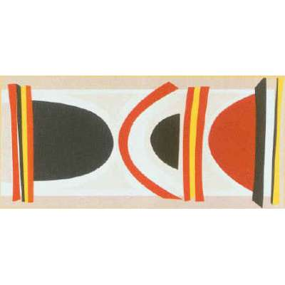 Sir Terry Frost silk screen 'Long Red Yellow & Black'