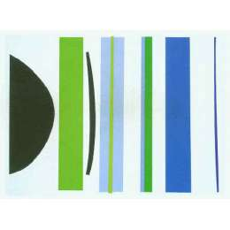 Sir Terry Frost screen print 'Blue & Green Verticals'