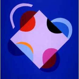 Sir Terry Frost silk screen 'Development of a Square (Blue)'