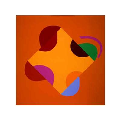Sir Terry Frost silk screen 'Development of a Square (Orange)'