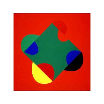 Sir Terry Frost silk screen 'Development of a Square (Red)'