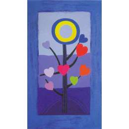 Sir Terry Frost silk screen 'Blue Love tree'