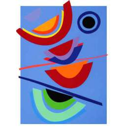 """Sir Terry Frost screen print """"Blue Circle"""""""