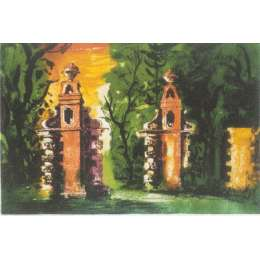 "John Piper limited edition signed etching ""Blenheim Gates"""
