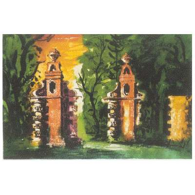 """John Piper limited edition signed etching """"Blenheim Gates"""""""
