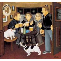 """Beryl Cook signed limited edition print """"In The Snug"""""""
