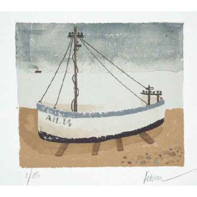 """Mary Fedden RA signed Lithograph """"Aldeburgh Fishing Boat"""""""