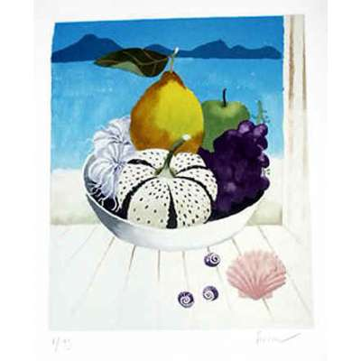 "Mary Fedden RA signed Photo Litho ""Tresco Still Life"""