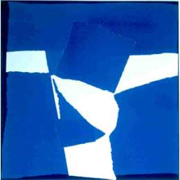 Sandra Blow RA signed screen print 'Blue Square Collage'