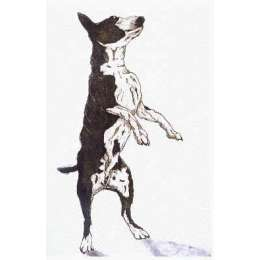 "Sonie Rollo signed limited edition etching ""Dog Dance"""
