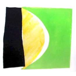 "Sir Terry Frost aquatint ""Green Yellow & Black"""