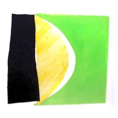 "Sir Terry Frost aquatint ""Green Yellow & Black"""