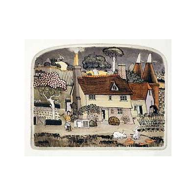 "Graham Clarke handmade etching ""Bunnyhops"""