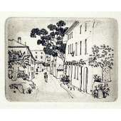 "Graham Clarke handmade etching ""Le Jeu du Mail"""