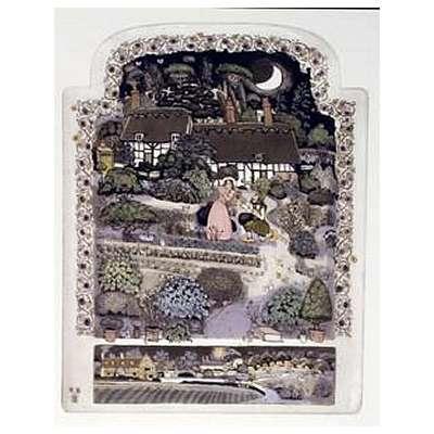 "Graham Clarke handmade etching ""Shottery Troth Plighting"""