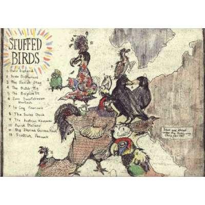 "Professor Chris Orr RA etching ""Stuffed Birds"""