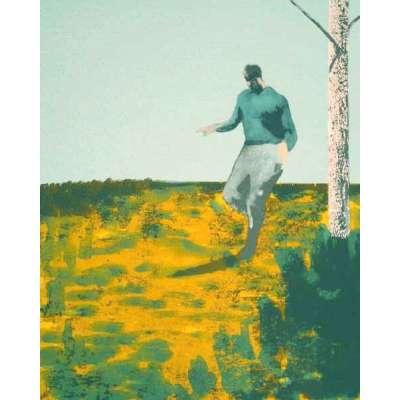 Jason Butler limited edition silkscreen print 'Running Man'