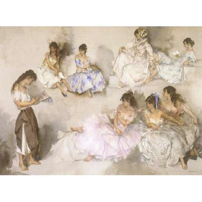 Sir William Russell Flint limited edition print 'Variations VI'