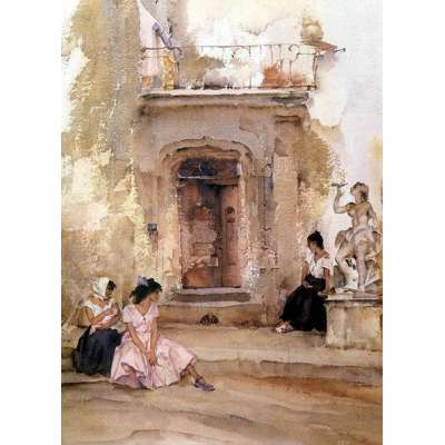 William Russell Flint limited edition 'Ancient Doorway, Cordes'