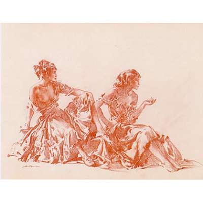 Sir William Russell Flint limited edition 'Cecilia and Joanna'