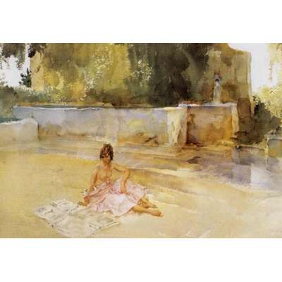 Sir William Russell Flint limited edition 'The Newspaper'